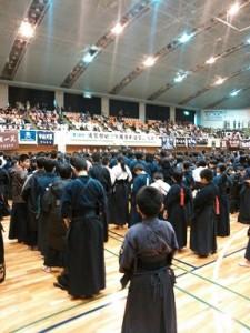雲館幼少年親善剣道大会の試合